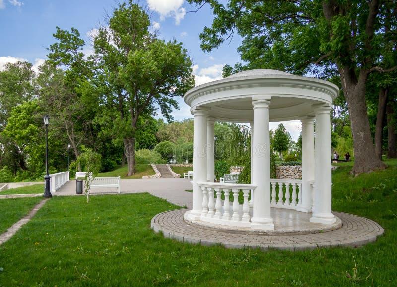 Axe sur la plate-forme d'observation en parc image libre de droits
