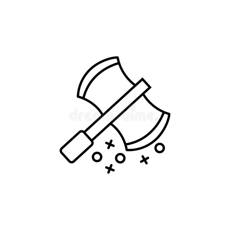 Axe weapon hatchet icon. Element of history icon. On white background royalty free illustration