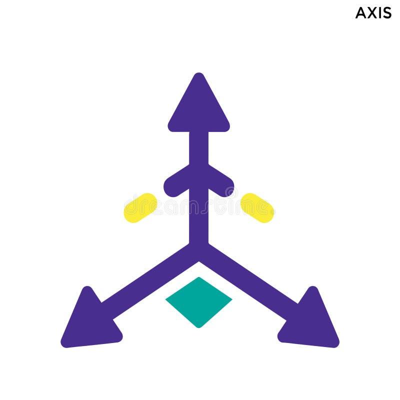 Axelsymbol royaltyfri illustrationer