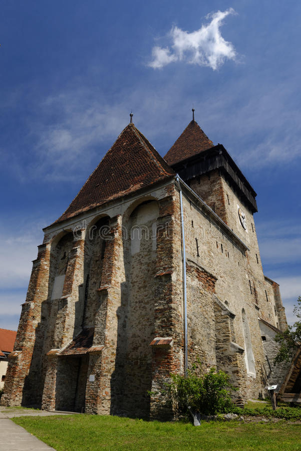 Axente Przecina kościół w Frauendorf, Rumunia obrazy royalty free