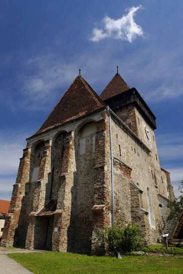 Axente scheidt Kerk in Frauendorf, Roemenië royalty-vrije stock afbeeldingen