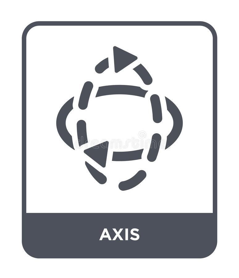 axis icon in trendy design style. axis icon isolated on white background. axis vector icon simple and modern flat symbol for web stock illustration