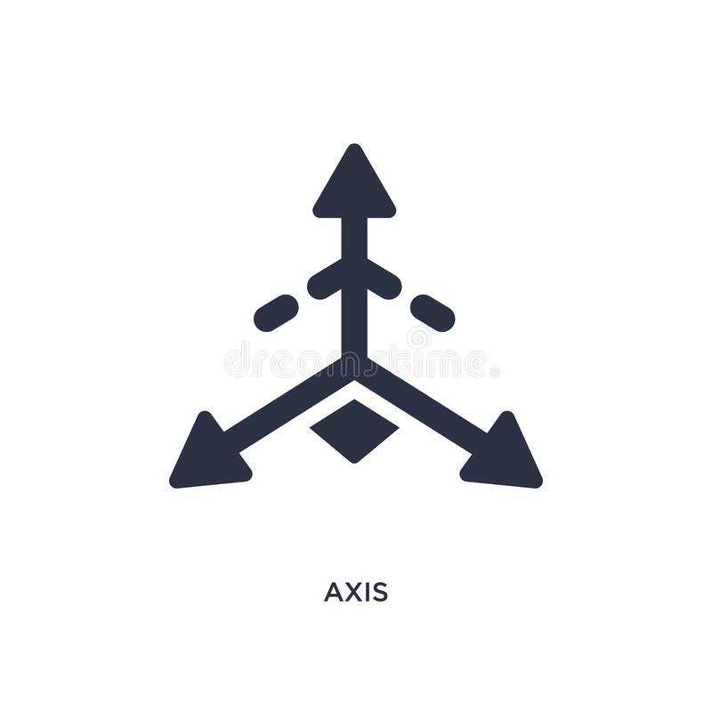 Axis icon on white background. Simple element illustration from geometry concept. Axis isolated icon. Simple element illustration from geometry concept. axis vector illustration