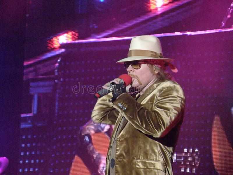 Axl Rose singer of Guns n`Roses royalty free stock photography