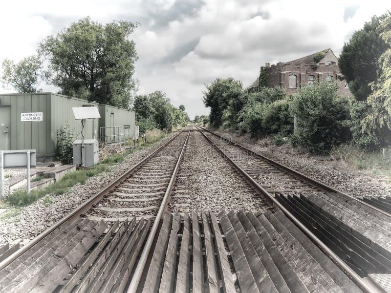 Axminster铁路交叉 免版税图库摄影