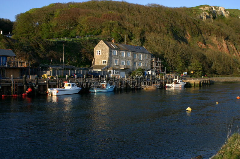 Axmouth harbour stock images