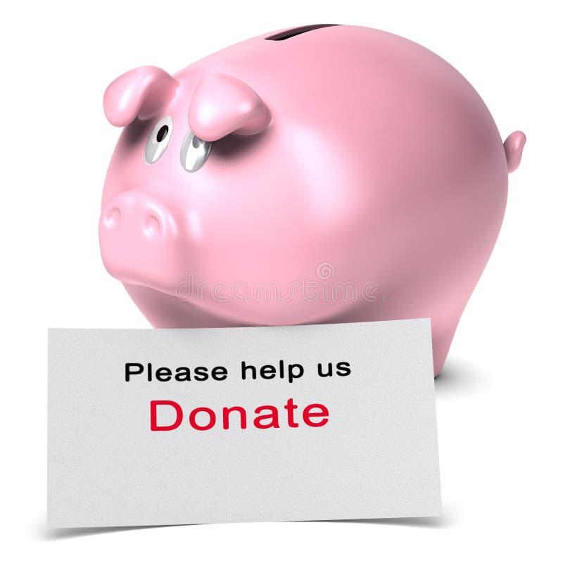 Ayúdenos por favor, donan, concepto de la donación libre illustration