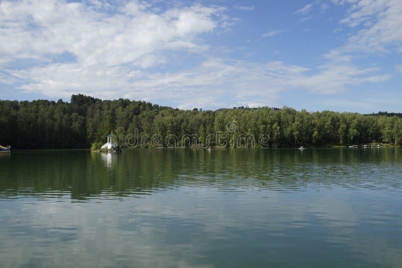 Aya湖,阿尔泰山,俄罗斯 库存照片
