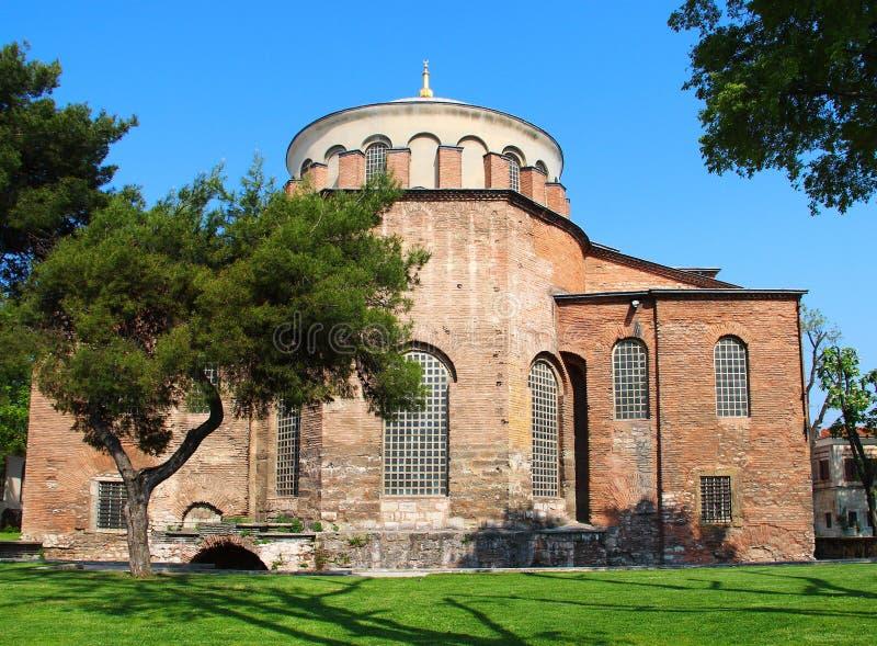 Aya Irini church in Istanbul, Turkey. Hagia Irene church (Aya Irini) in the park of Topkapi Palace in Istanbul, Turkey stock image
