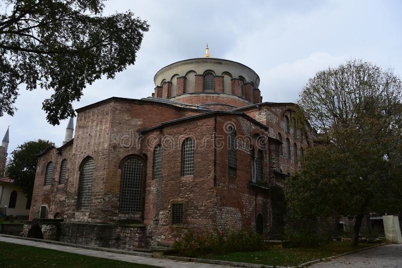 Hagia Irene Church, Istanbul, Turkey. Aya Irini or Hagia Irene Church / Istanbul / Turkey royalty free stock image