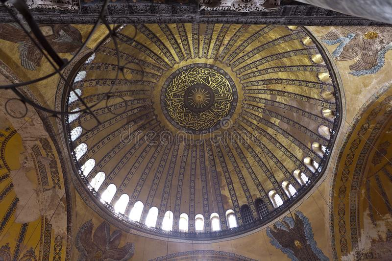 Aya Sophia in Istanbul Turkey inside stock photo