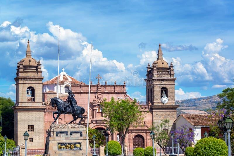 Ayacucho Plaza de Armas fotografia stock libera da diritti
