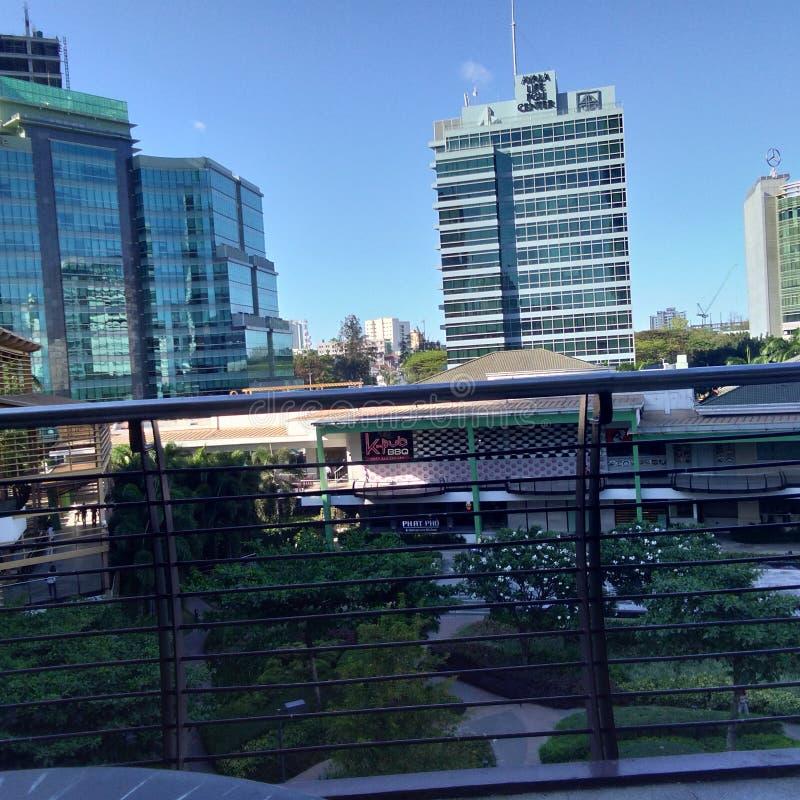 Ayala terrasserar Cebu arkivbild