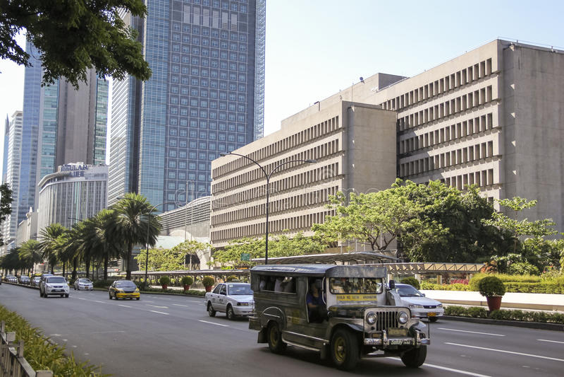 Ayala van Jeepney wegmetro Manilla Filippijnen royalty-vrije stock foto's