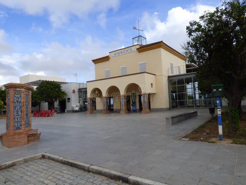 Ayamonte στάση λεωφορείου στοκ εικόνες
