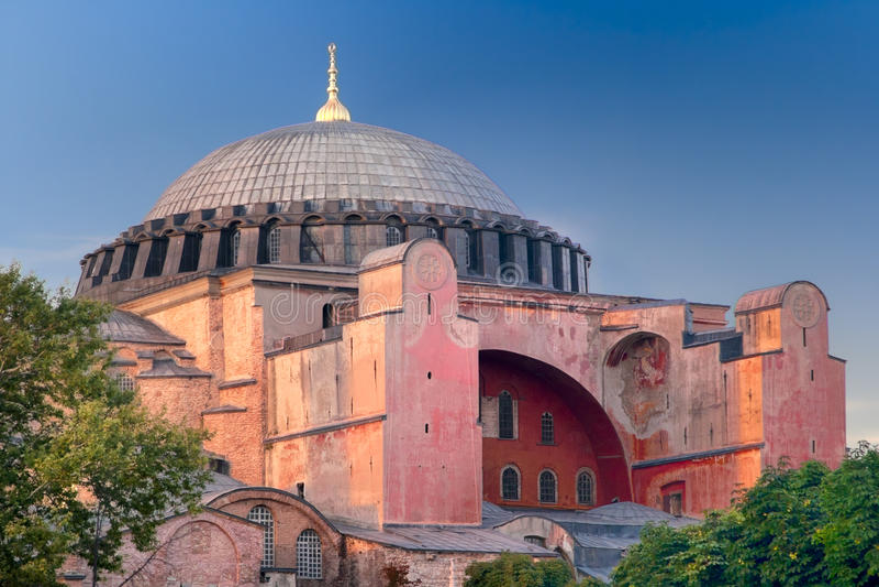 Ayasofya Basilika in Istanbul stockbild