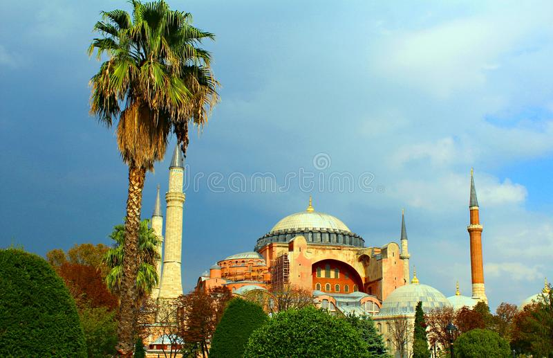 Ayasofya di sophia di Hagia dal tacchino di Costantinopoli fotografie stock