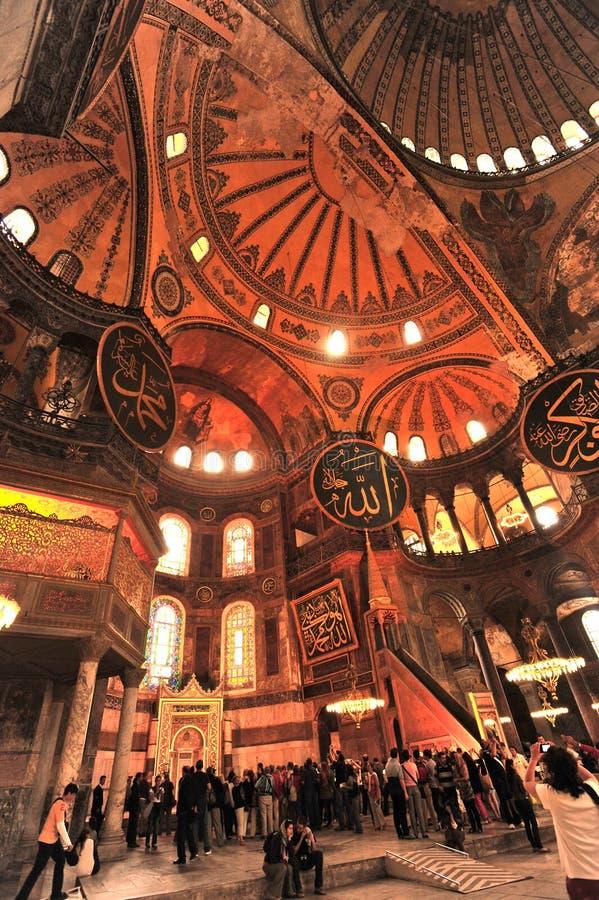 Ayasohya moské (Hagia Sophia, Istanbul) royaltyfri fotografi