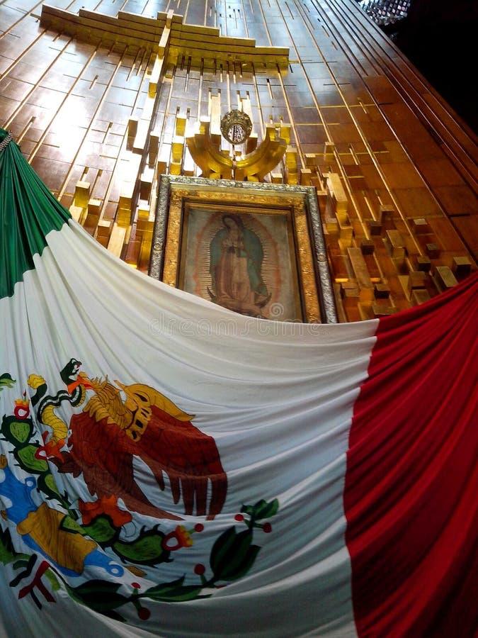 Ayate San Juan Diego w bazylice Guadalupe w Mexico fotografia royalty free
