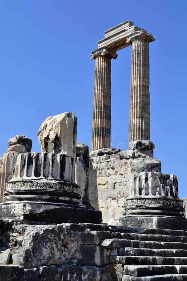 Aydin, древний город Турции - 23-ье сентября 2013 - Didyma стоковое изображение