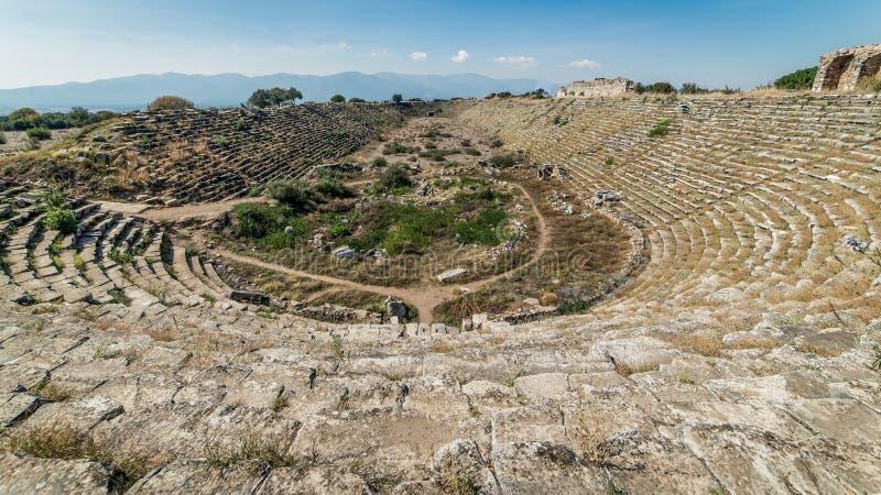 Aydin, die Türkei - 9. Oktober 2015: Stadion innerhalb der alten Ruinen von Aphrodisias in Geyre, Aydin lizenzfreie stockbilder