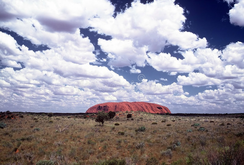 Download Ayers Rock editorial stock photo. Image of clouds, tree - 118828
