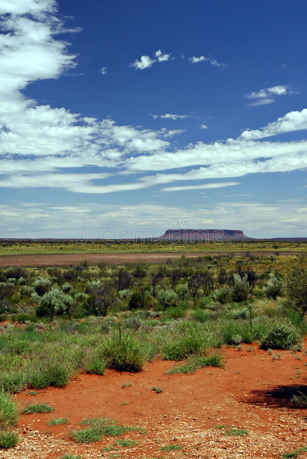 Ayers rock. And australian landscape royalty free stock photography