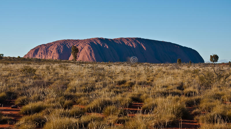 Ayers rock. View of Ayers Rock, outback australia Northern Territory royalty free stock images