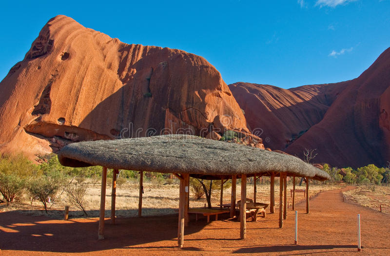 Ayers rock. View of Ayers Rock, outback australia Northern Territory stock images