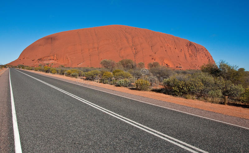 Ayers rock. View of Ayers Rock, outback australia Northern Territory royalty free stock photo