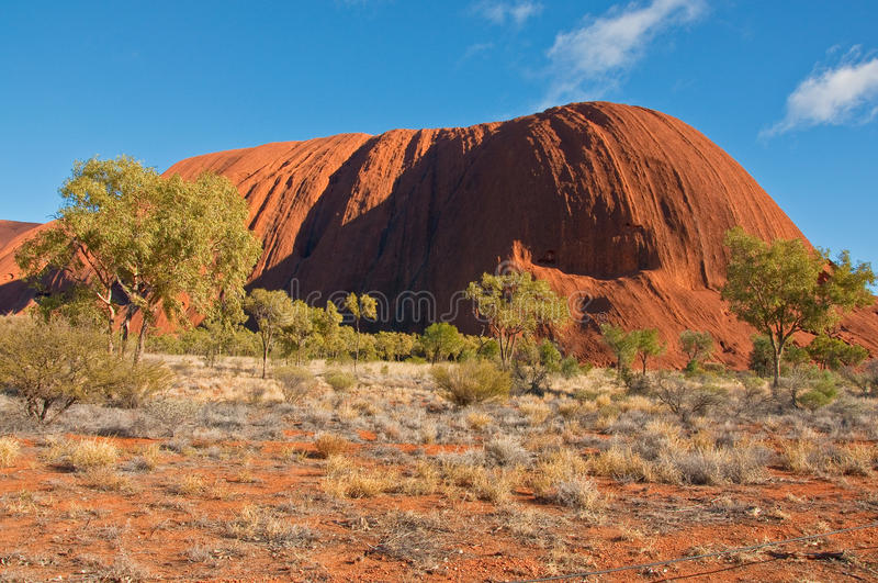 Ayers rock. View of Ayers Rock, outback australia Northern Territory stock photos