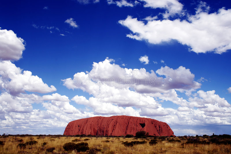 Ayers Rock. (Uluru) in the early afternoon royalty free stock images