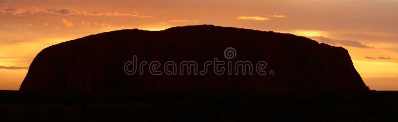 Ayers Rock (Uluru) - Sunrise - Pano Editorial Stock Photo