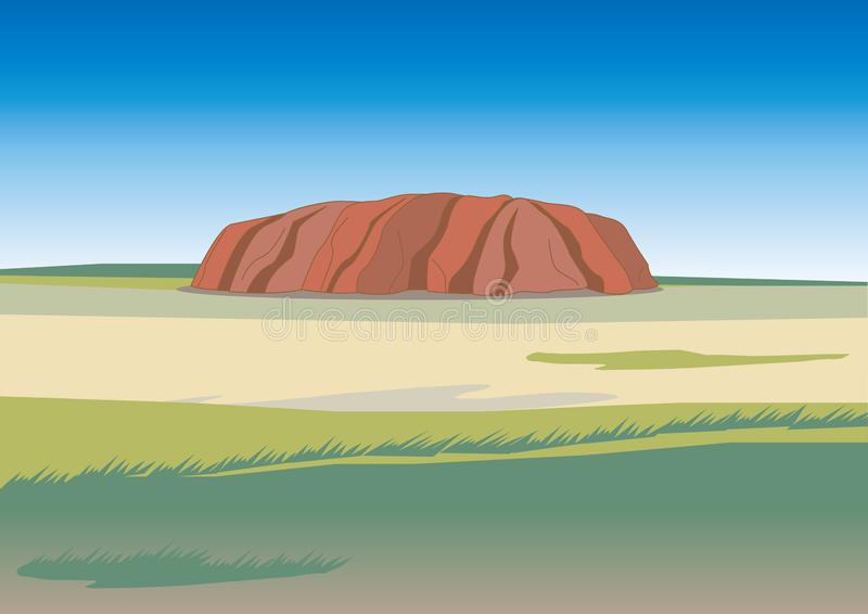 Ayers RockUluru bild vektor illustrationer