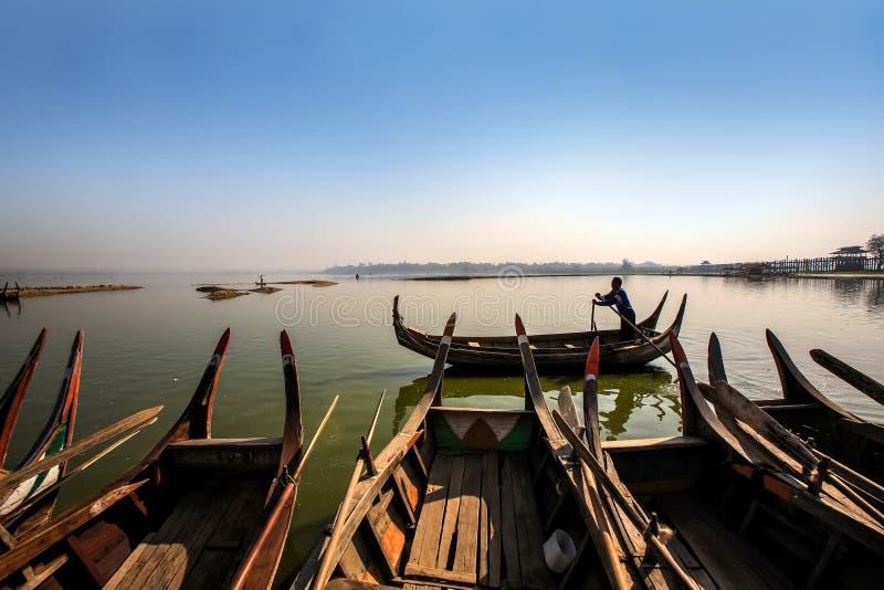 Ayeyarwady flod, myanmar arkivbild