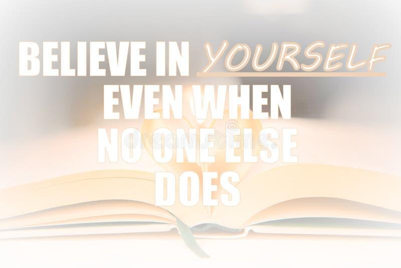 Ayez la foi et croyez en vous-même citation inspirée d'autodéveloppement illustration de vecteur