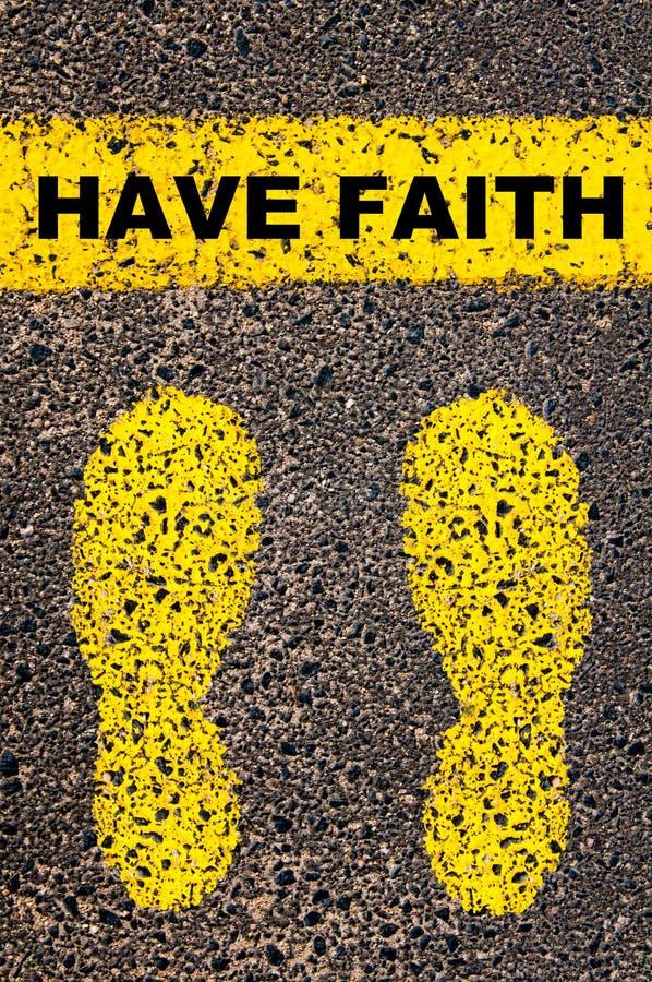 Ayez le message de foi Image conceptuelle photo libre de droits