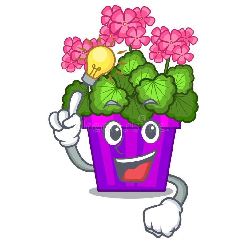 Ayez les fleurs d'un géranium d'idée dans la forme de bande dessinée illustration de vecteur