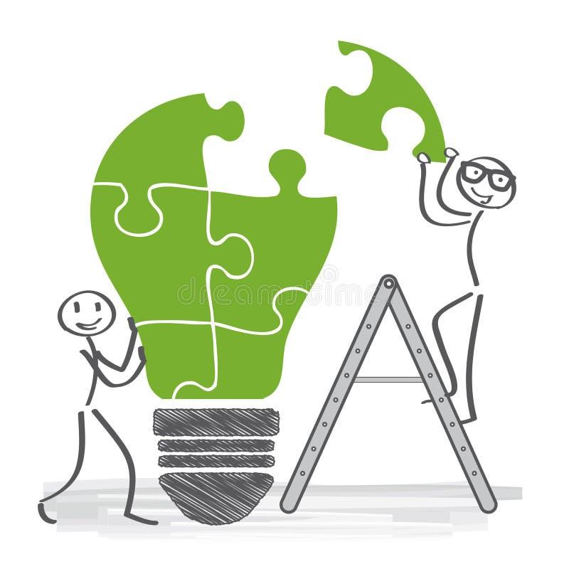 Ayez les idées, coopération illustration de vecteur