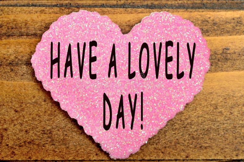 Ayez un beau jour ! images stock