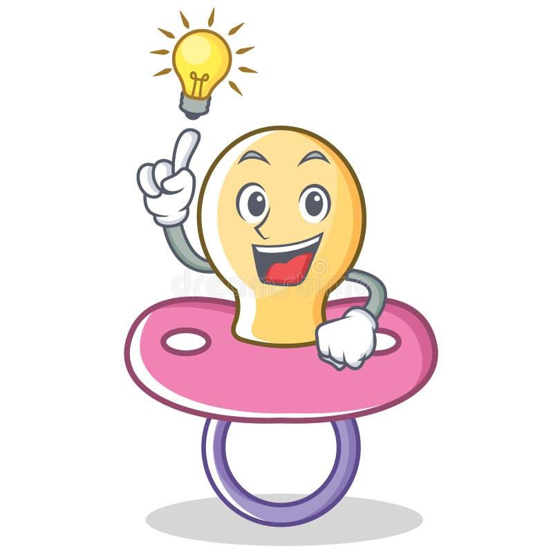Ayez une bande dessinée de caractère de tétine de bébé d'idée illustration stock