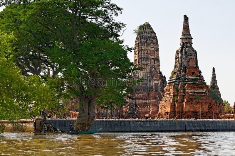 Ayhutthya tempel royaltyfri foto