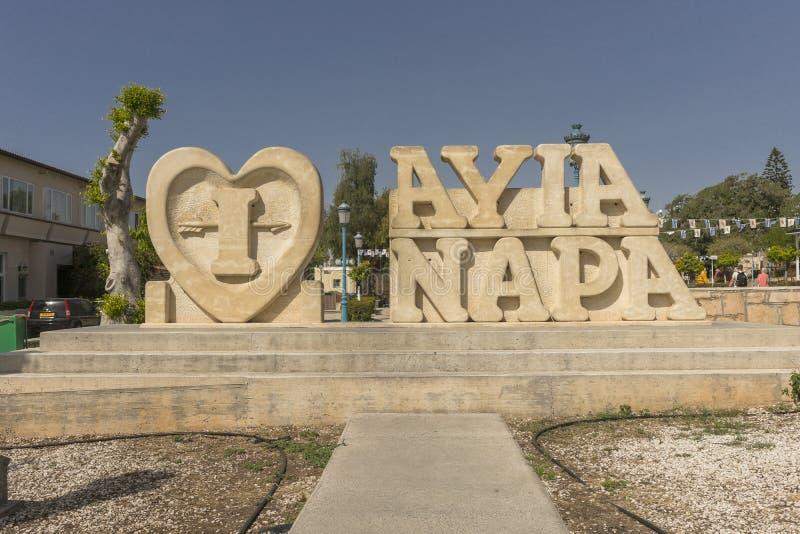 Ayia Napa纪念碑 库存图片