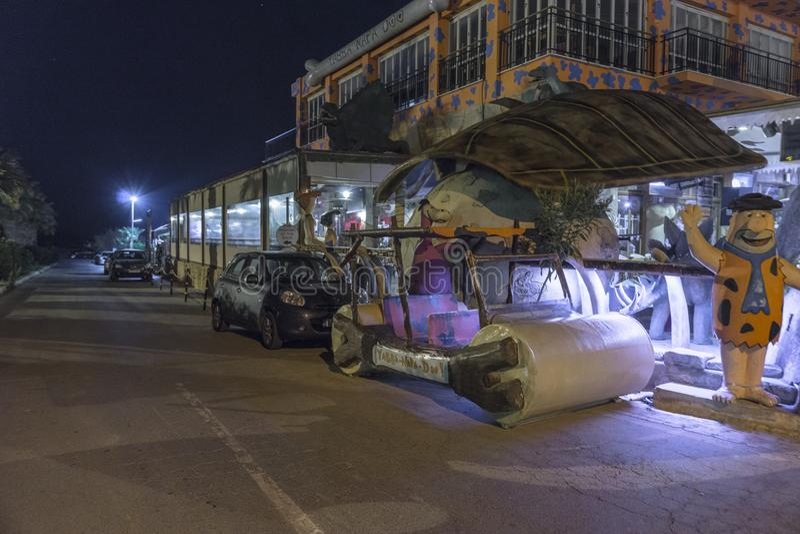 Ayia Napa街道,塞浦路斯 免版税图库摄影