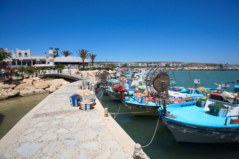 Ayia Napa harbor stock photography