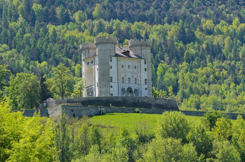 Aymavilleskasteel - Aosta-Vallei - Italië stock foto