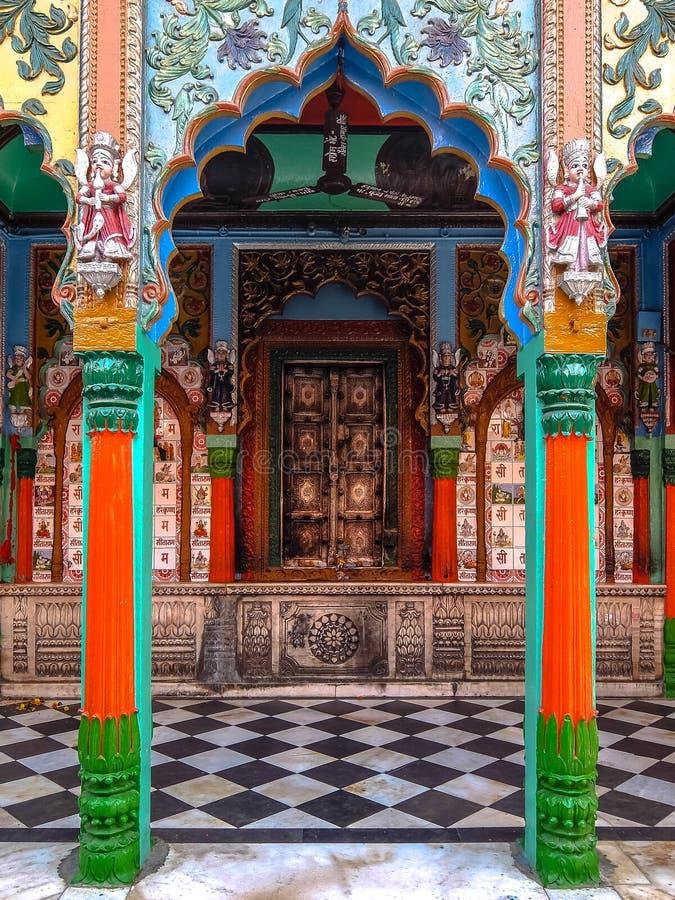 Ayodhya, la India Hanuman Garhi Temple Detalles de la arquitectura imagen de archivo libre de regalías