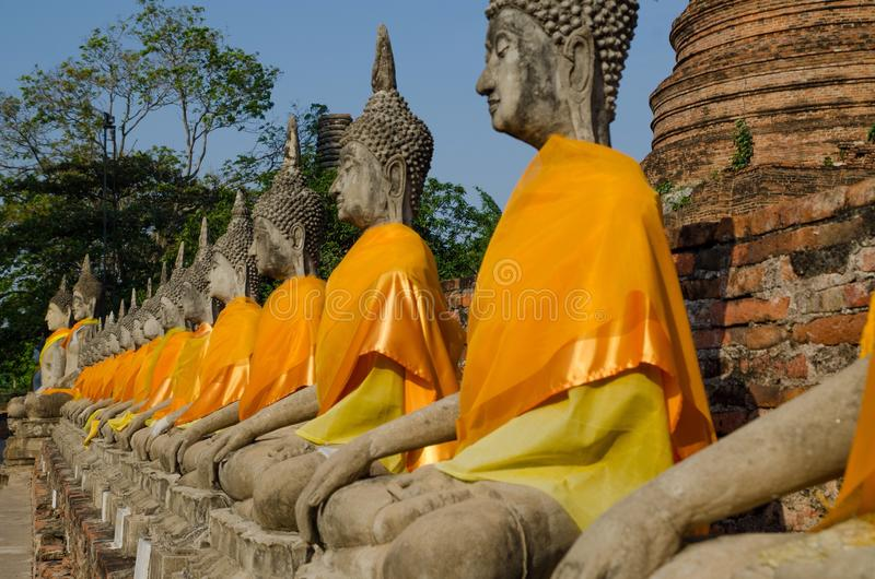 Ayotaya di Buddha immagini stock libere da diritti