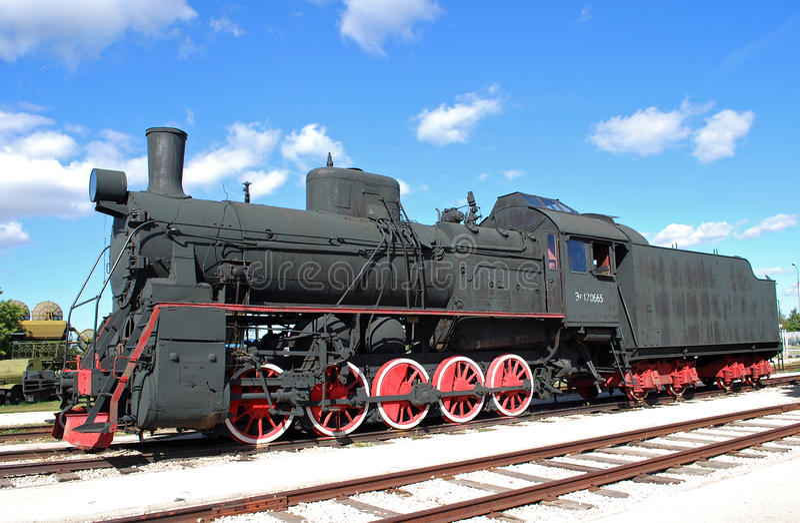 AYR-170665系列的俄国和苏联货物引擎 技术博物馆K g Sakharova 陶里亚蒂 免版税库存照片