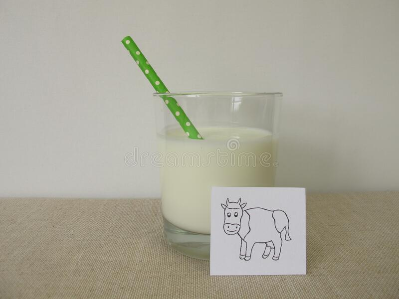 Ayran avec lait, yaourts, eau glacée et sel image stock